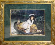 Framed-Lady-in-rowboat